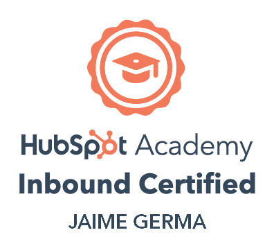 Certificado por Hubspot Academy como especialista en Inbound Marketing
